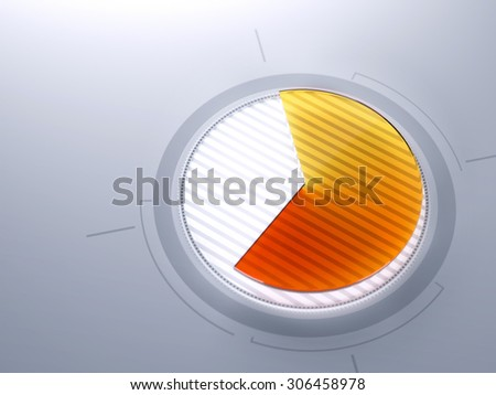 Abstract business high technology pie chart  - stock photo