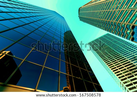 Abstract business office skyscraper - stock photo