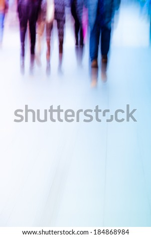 abstract business people activity at big city. Blur motion. - stock photo