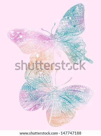 Abstract Butterfly - stock photo
