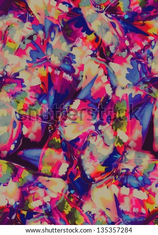 abstract butterfly wings ~ seamless background - stock photo