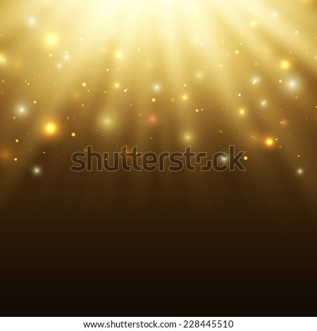 Abstract celebration background with particles and rays.Perfect tamplate for your projects - stock photo