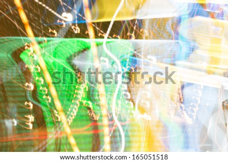 abstract celebration light blurry background - stock photo