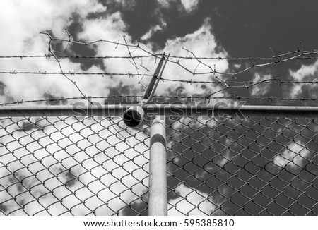 abstract chain link fence with barbed wire broken steel wire and broken png e25 broken