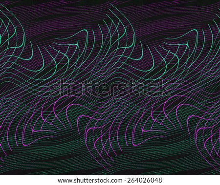 Abstract chaotic interweaving of green and magenta backgrounds - stock photo