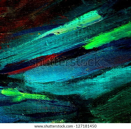abstract chaotic painting by oil on canvas,  illustration, background