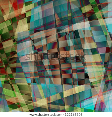 Abstract chaotic pattern with colorful translucent curved lines - stock photo