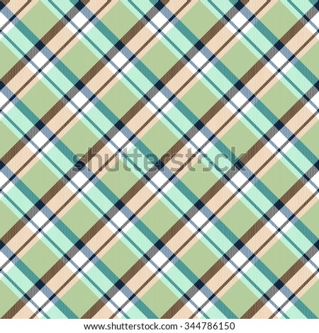 Abstract checkered oblique seamless pattern - stock photo