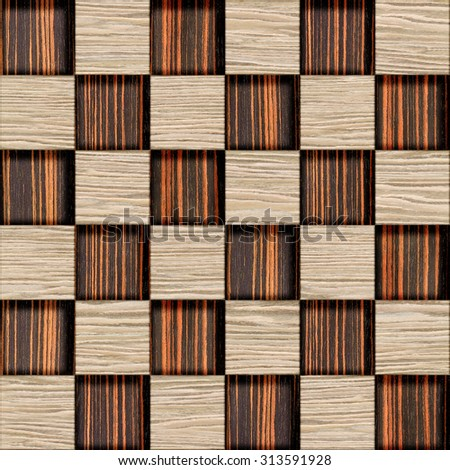 Abstract checkered pattern - 3D wallpaper - Interior Design wallpaper - Interior wall panel pattern - seamless background - decorative tiles - different colors - wood paneling, wood texture - stock photo