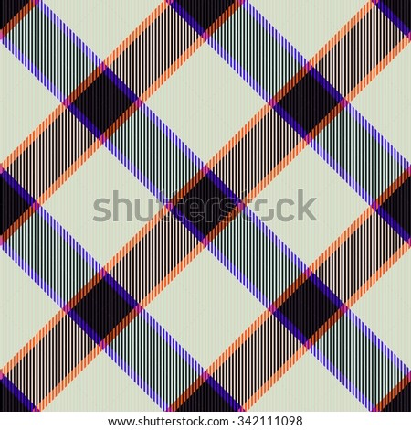 Abstract checkered trendy seamless diagonally pattern with fabric texture - digitally rendered design - stock photo