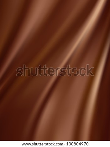 Abstract chocolate background, brown abstract satin - stock photo