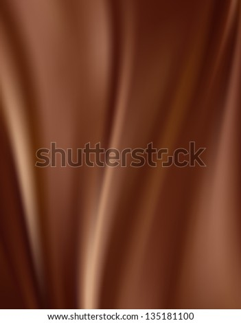 Abstract Chocolate Background, Brown Drapery Satin - stock photo