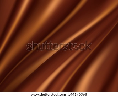 Abstract Chocolate Background, Brown Silk Fabric for Drapery Background - stock photo