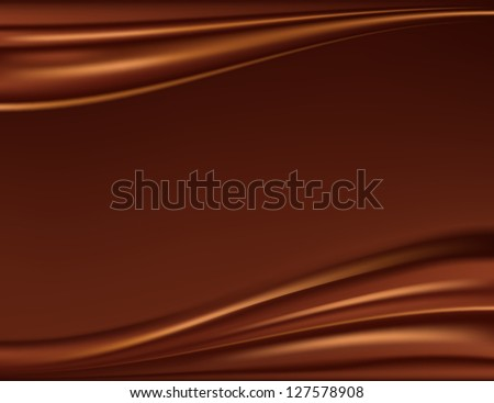 Abstract chocolate background, raster version - stock photo