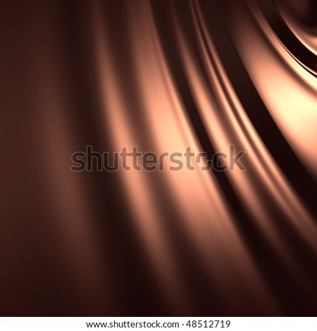 Abstract chocolate silky background (3d remarkable abstract backgrounds and objects series) - stock photo
