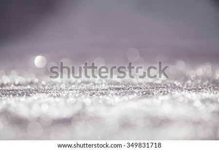 Abstract Christmas and New Year bokeh, blinking background with copyspace - stock photo