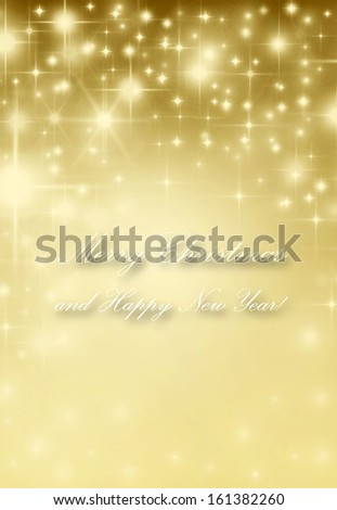 abstract Christmas background golden stars