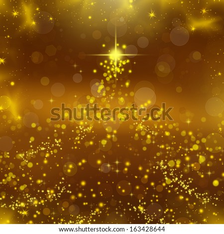 Abstract Christmas background whit stars and snowflakes