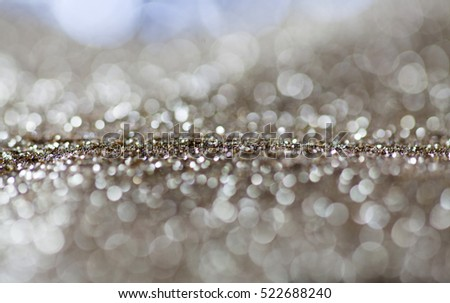 abstract Christmas background with holiday lights and copy space - magic bokeh glitter