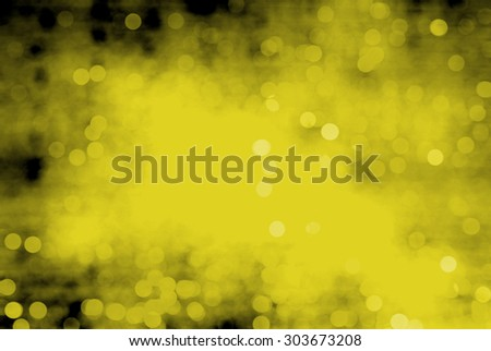 Abstract Christmas bokeh yellow or gold background