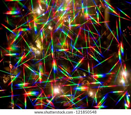 Abstract Christmas lights - stock photo