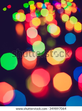 Abstract Christmas lights. Background. Bokeh. Out of focus - stock photo