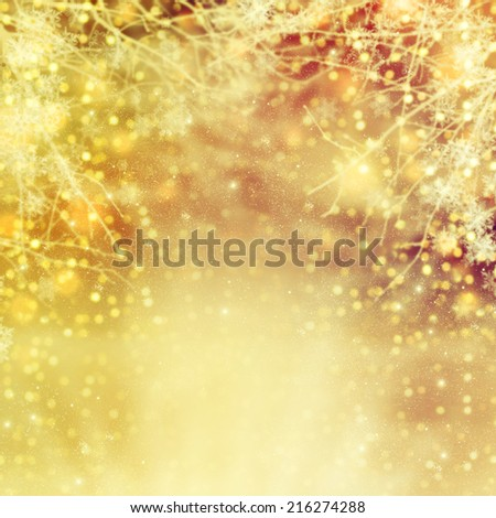 Abstract christmas lights on background.