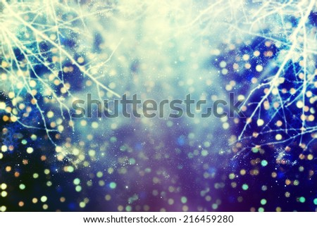 Abstract christmas lights on background.  - stock photo