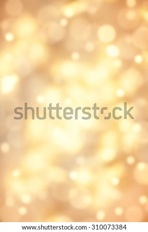 Abstract christmas lights on background.  Festive background with defocused Golden bokeh - stock photo