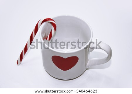 Abstract Christmas - New Year decoration. Cup with candies.