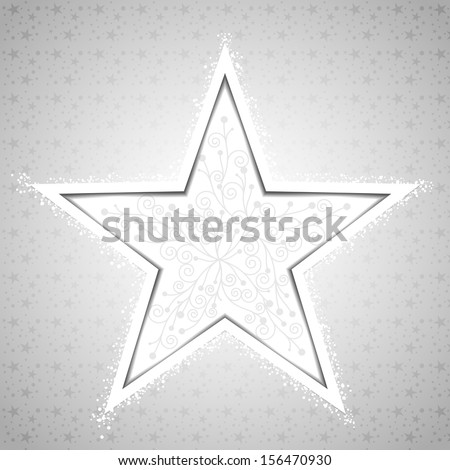 Abstract Christmas Star Snowflake Greeting Card