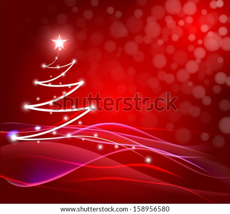 Abstract Christmas Tree Background - stock photo