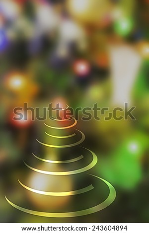 Abstract christmas tree background for seasons celebrations with copy space - stock photo