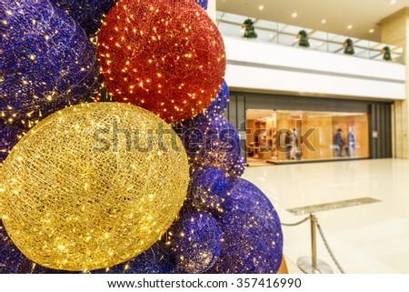 abstract christmas tree beautiful Light background - stock photo