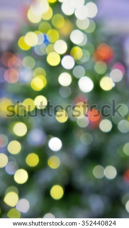 Abstract christmas tree lights as background - stock photo