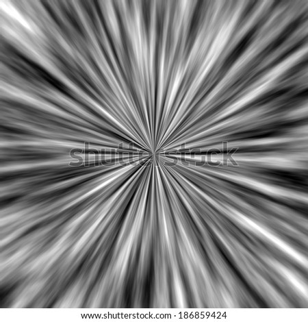 Abstract chrome with black space background.