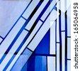 Abstract Church Windows - stock photo