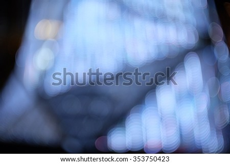 abstract circle light bokeh with blur background