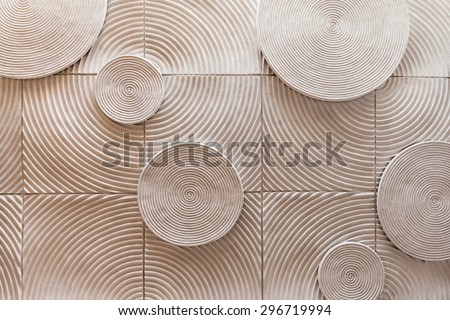 abstract circle shape of stone texture background - stock photo
