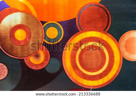 abstract circles background - stock photo