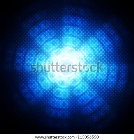 Abstract circles on blue background - stock photo
