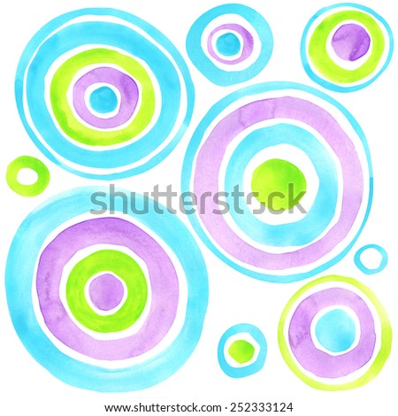abstract circles watercolor background. Abstract art. Abstract artistic Background. modern geometrical abstract background. Watercolor abstract art. Abstract texture paper. modern abstract art design - stock photo
