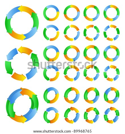 Abstract circles with arrows