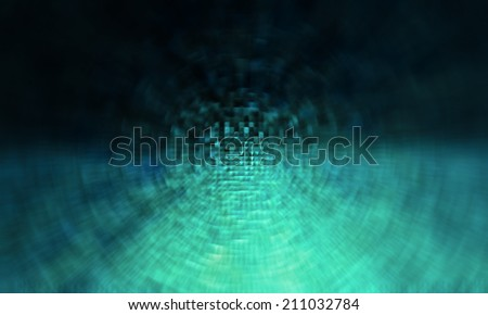 Abstract circular blue technology background - stock photo