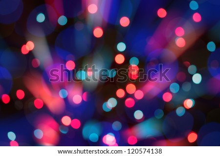 Abstract circular bokeh background of Christmas light - stock photo