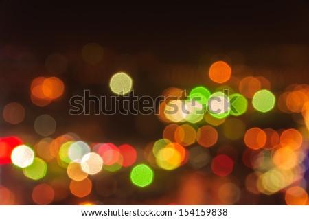 Abstract circular bokeh background of Christmaslight - stock photo