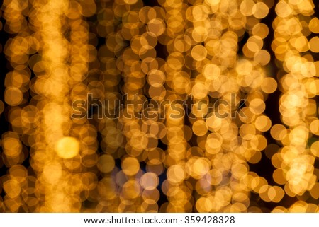Abstract circular bokeh background of light