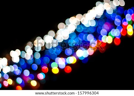 Abstract circular bokeh background of party light  - stock photo