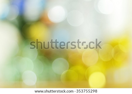 Abstract circular bokeh backgroundand Bokeh gold colour abstract background of Happy new year 2016 and Christmaslight - stock photo