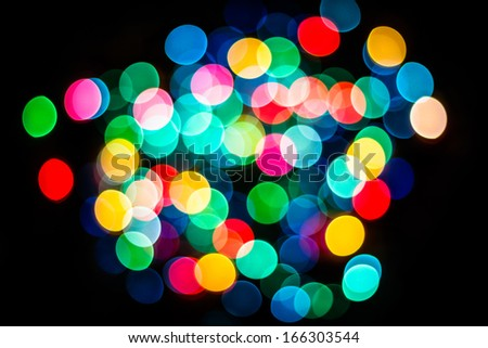 Abstract circular bokeh  of New Year light